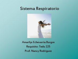 Sistema Respiratorio Amarilys Echevarria Burgos Requisito Tedu 225