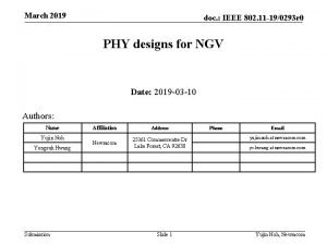 March 2019 doc IEEE 802 11 190293 r