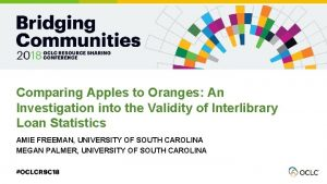 Comparing Apples to Oranges An Investigation into the