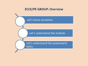 ECCEPE GROUP Overview Lets know ourselves Lets understand