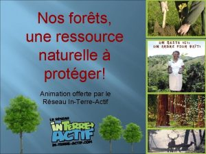 Nos forts une ressource naturelle protger Animation offerte