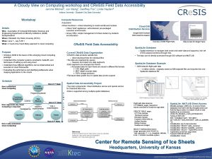 A Cloudy View on Computing workshop and CRe