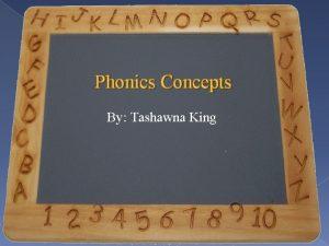 Phonics Concepts By Tashawna King Phonics Concepts Phonics