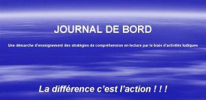 JOURNAL DE BORD Une dmarche denseignement des stratgies