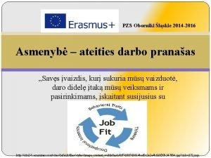 PZS Oborniki lskie 2014 2016 Asmenyb ateities darbo