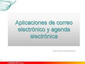 Aplicaciones de correo electrnico y agenda electrnica Autora