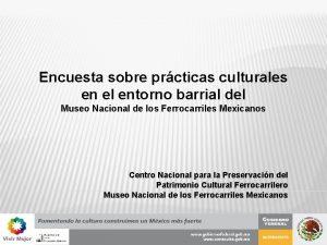 Encuesta sobre prcticas culturales en el entorno barrial