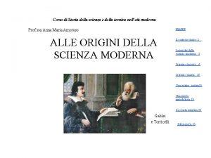 Corso di Storia della scienza e della tecnica