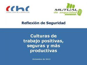 Reflexin de Seguridad Culturas de trabajo positivas seguras