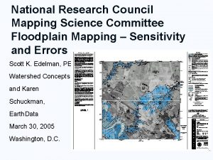 National Research Council Mapping Science Committee Floodplain Mapping