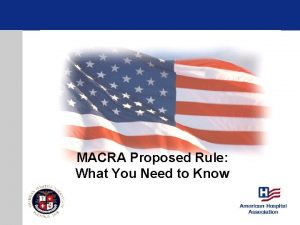 MACRA Proposed Rule What You Need to Know