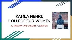 KAMLA NEHRU COLLEGE FOR WOMEN JAI NARAYAN VYAS