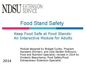 Food Stand Safety Keep Food Safe at Food