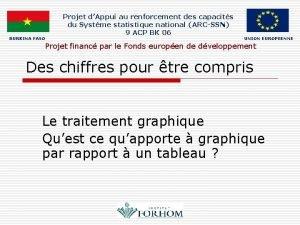 BURKINA FASO Projet dAppui au renforcement des capacits