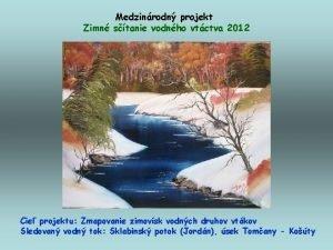 Medzinrodn projekt Zimn stanie vodnho vtctva 2012 Cie