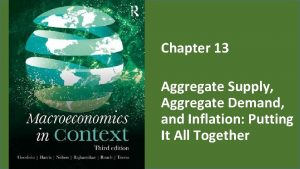 Chapter 13 Aggregate Supply Aggregate Demand and Inflation