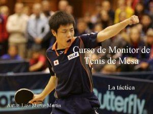 Curso de Monitor de Tenis de Mesa La