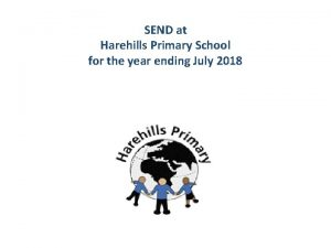 SEND at Harehills Primary School for the year
