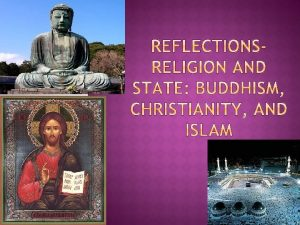 Article Religion and State Buddhism Christianity and Islam