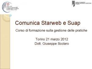 Comunica Starweb e Suap Corso di formazione sulla