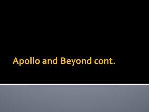 Apollo and Beyond cont Apollo 14 Jan 31