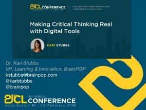 Dr Kari Stubbs VP Learning Innovation Brain POP