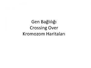 Gen Ball Crossing Over Kromozom Haritalar Gen ball