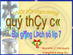 Gio vin L Th Quyn Tr ng THCS