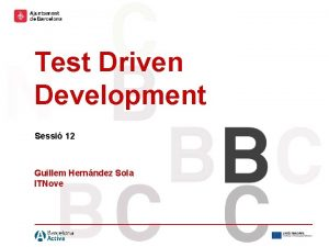 Hola hola Holaholahola Hola hola Test Driven Development
