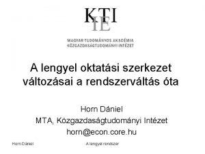 A lengyel oktatsi szerkezet vltozsai a rendszervlts ta