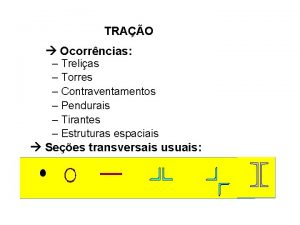TRAO Ocorrncias Trelias Torres Contraventamentos Pendurais Tirantes Estruturas