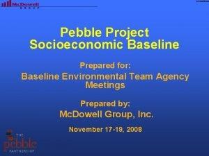 Pebble Project Socioeconomic Baseline Prepared for Baseline Environmental