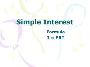 Simple Interest Formula I PRT I PRT I