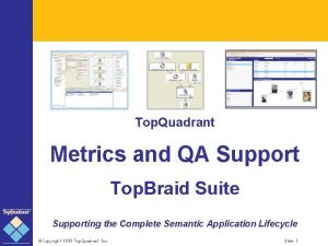 Top Quadrant Metrics and QA Support Top Braid