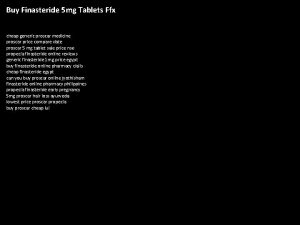 Buy Finasteride 5 mg Tablets Ffx cheap generic
