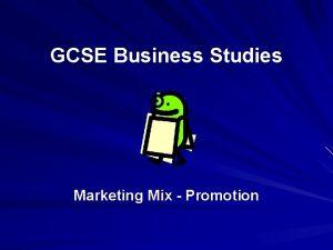 GCSE Business Studies Marketing Mix Promotion Activity With