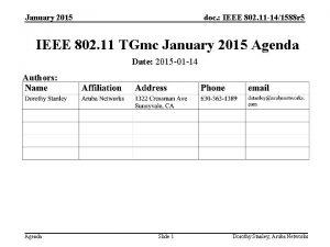 January 2015 doc IEEE 802 11 141588 r
