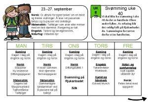 23 27 september Norsk Gi uttrykk for egne