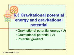 6 3 Gravitational potential energy and gravitational potential