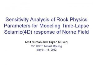 Sensitivity Analysis of Rock Physics Parameters for Modeling