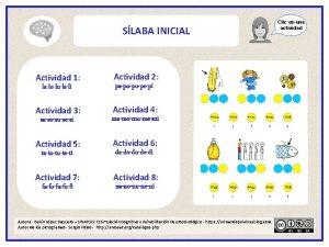 SLABA INICIAL Actividad 1 laloluleli Actividad 2 papopupepi