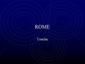 ROME Tomlin ROME 1000 500 B C 3
