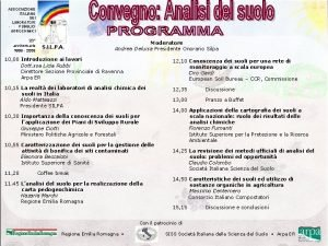 ASSOCIAZIONE ITALIANA DEI LABORATORI PUBBLICI AGROCHIMICI 20 anniversario