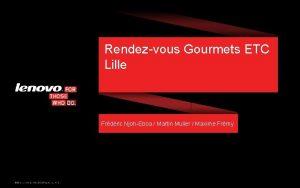 Rendezvous Gourmets ETC Lille Frdric NjohEboa Martin Muller
