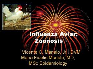 Influenza Aviar Zoonosis Vicente C Manalo Jr DVM