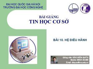 I HC QUC GIA H NI TRNG I