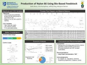 Production of Nylon 66 Using BioBased Feedstock Sofia
