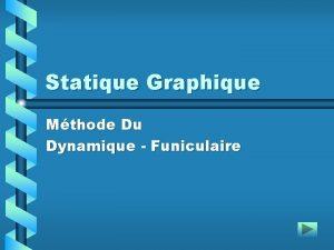 Statique Graphique Mthode Du Dynamique Funiculaire Fiche Pdagogique