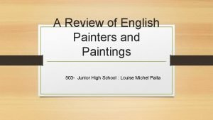 A Review of English Painters and Paintings 503