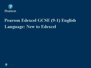 Pearson Edexcel GCSE 9 1 English Language New